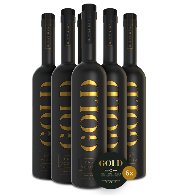 Gold Dry Vodka Six Pack