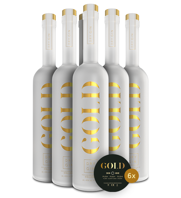 Gold Dry Gin Six Pack